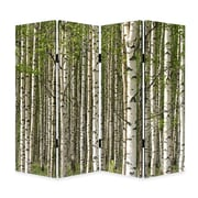 Screen Gems 84'' x 84'' Prolific Forest Screen 4 Panel Room Divider