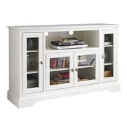 """Walker Edison 52"""" Wood Highboy TV Stand, White (SP52C32WH)"""
