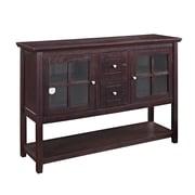 "Walker Edison 52"" Wood Console Table TV Stand, Espresso (SP52C4CTES)"