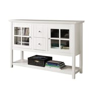 "Walker Edison 52"" Wood Console Table TV Stand, White (SP52C4CTWH)"