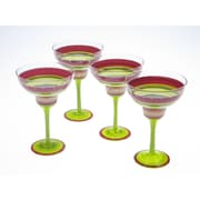 Certified International Hot Tamale Hand Painted 12 Oz. Margarita Glass (Set of 4)