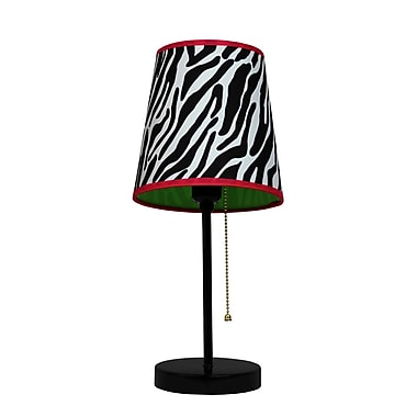 All the Rages Limelights LT3000-ZBA Table Lamp, Zebra Fun Prints