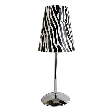 All the Rages Limelights LT3024-ZBA Table Lamp Shade, Zebra