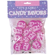 Amscan It's A Girl Lollipops, 4.75oz, 4/Pack, 25 Per Pack (13005)
