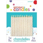 "Amscan Spiral Birthday Candles, 2.5"", White, 12/Pack, 24 Per Pack (17105.08)"