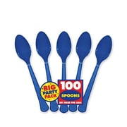 Amscan Big Party Pack Mid Weight Spoon, Royal Blue, 3/Pack, 100 Per Pack (43601.105)