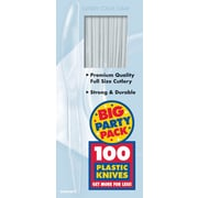 Amscan Big Party Pack Mid Weight Knife, Clear, 3/Pack, 100 Per Pack (43603.86)