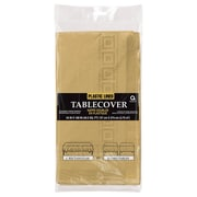 Amscan Paper Tablecover, 3-Ply, Gold, 9/Pack (57115.19)
