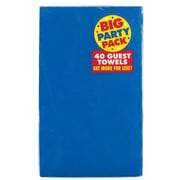 Amscan Big Party Pack Guest Towel, 2-Ply, Royal Blue, 6/Pack, 40 Per Pack (63215.105)