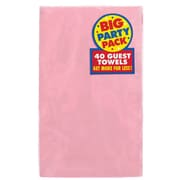 Amscan Big Party Pack Guest Towel, 2-Ply, Pink, 6/Pack, 40 Per Pack (63215.109)