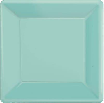 """""Amscan 7""""""""x 7"""""""" Robins Egg Blue Square Plate, 9/Pack, 20 Per Pack (64020.121)"""""" 1970250"