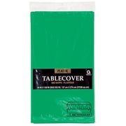 """Amscan 54"""" x 108"""", Green Plastic Tablecover, 12/Pack (77015.03)"""