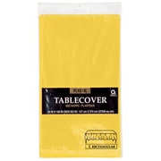 "Amscan 54"" x 108"" Sunshine Plastic Tablecover, 12/Pack (77015.09)"
