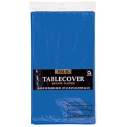 "Amscan 54"" x 108"" Royal Blue Plastic Tablecover, 12/Pack (77015.105)"