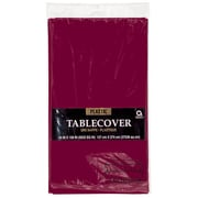 "Amscan Plastic Tablecover, 54""L x 108""W, Berry, 12/Pack (77015.27)"
