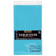 """Amscan 54"""" x 108"""" Caribbean Blue Plastic Tablecover, 12/Pack (77015.54)"""