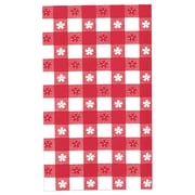 """Amscan 54'' x 108"""" Red Gingham Plastic Tablecover, 6/Pack (77016)"""