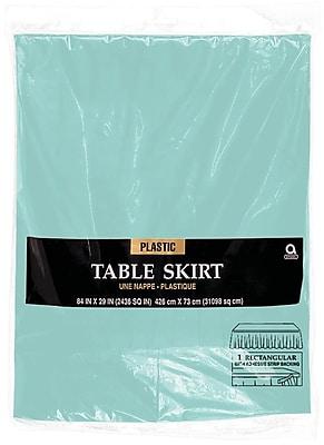 """""""""""Amscan 14' x 29"""""""""""""""" Robins Egg Blue Plastic Tableskirt, 4/Pack (77025.121)"""""""""""" 1970194"""