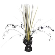 "Amscan Foil Spray Centerpiece, 12"", Black/Silver/Gold, 10/Pack, (110021)"
