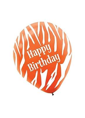 Amscan Birthday Zebra Latex Balloons, 12'', 3/Pack,