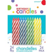 Amscan Spiral Birthday Candles, 2.5'', Primary Assorted, 12/Pack, 24 Per Pack (170002.99)