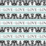 Amscan Always and Forever Gift Wrap, 5' x 30'', 12/Pack (189461)