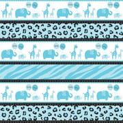 "Amscan Sweet Safari Boy Gift Wrap, 5' x 30"", 12/Pack (231132)"