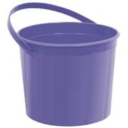 Amscan Plastic Bucket, 6.25''W, Purple, 12/Pack (268902.106)