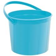 "Amscan Plastic Bucket, 6.25"", Caribbean Blue, 12/Pack (268902.54)"