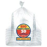 Amscan Clear Plastic Martini Glasses, 2/Pack, 20 Per Pack (350100.86)
