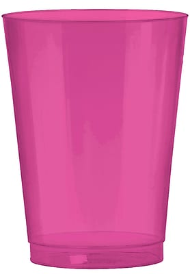 Amscan Big Party Pack 10oz Bright Pink Plastic Cups, 2/Pack, 72 Per Pack (350363.103) 1970900