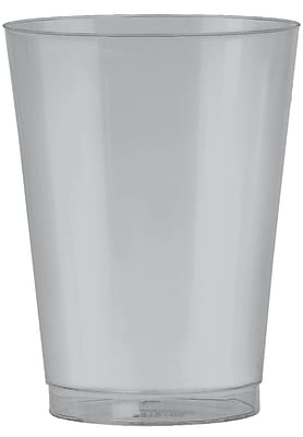 Amscan 10oz Silver Big Party Pack Plastic Cups, 2/Pack, 72 Per Pack (350363.18) 1970896