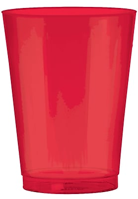 Amscan 10oz Apple Red Big Party Pack Plastic Cups, 2/Pack, 72 Per Pack (350363.4) 1970894