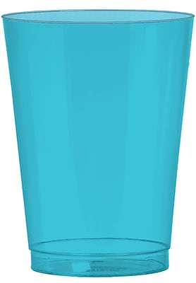 Amscan 10oz Caribbean Blue Big Party Pack Plastic Cups, 2/Pack, 72 Per Pack (350363.54) 1970892