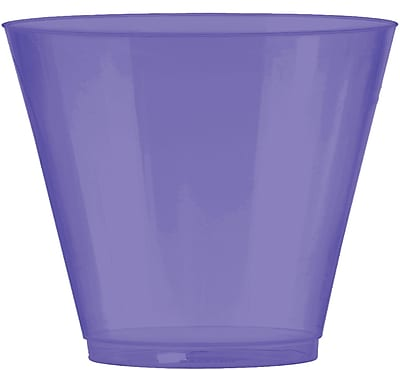 Amscan Big Party Pack Plastic Cups, 9oz, Purple, 2/Pack, 72 Per Pack (350366.106) 1970971