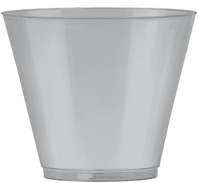 Amscan 9oz Silver Big Party Pack Plastic Cups, 2/Pack, 72 Per Pack (350366.18) 1970969