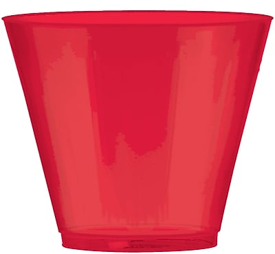 Amscan 9oz Red Big Party Pack Plastic Cups, 2/Pack, 72 Per Pack (350366.4) 1970967