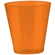 Amscan Big Party Pack 2oz Orange Peel Plastic Shot Glasses, 3/Pack (357918.05)