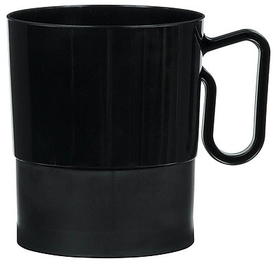Amscan 8oz Black Plastic Coffee Cups, 2/Pack, 20 Per Pack (359630.1) 1969590