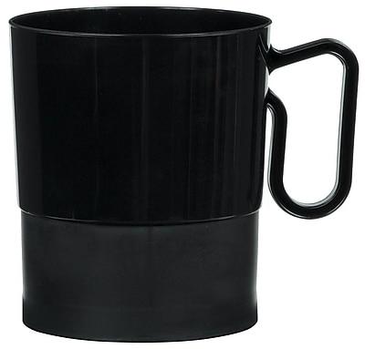 Amscan 8oz Black Plastic Coffee Cups, 2/Pack, 20 Per Pack (359630.1) 1969590