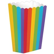 Amscan Paper Popcorn Boxes, 5.25''H x 2.5'W', Rainbow, 12/Pack, 5 Per Pack (370221.9)