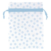 Amscan Blue Dot Organza Bag, 4'' x 3'', Blue, 4/Pack, 12 Per Pack (382363)