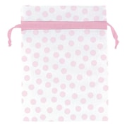 "Amscan Pink Dot Organza Bag, 4"" x 3"", 12/Pack, 12 Per Pack (382364)"