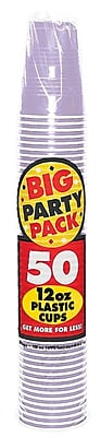 Amscan Big Party Pack 12oz Lavender Cup, 5/Pack, 50 Per Pack (436800.04) 1970944