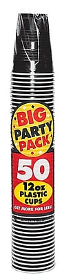 Amscan 12oz Black Big Party Pack Cup, 5/Pack, 50 Per Pack (436800.1) 1970938