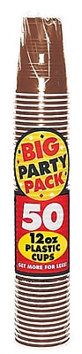 Amscan Big Party Pack 12oz Chocolate Brown Cup, 5/Pack, 50 Per Pack (436800.111) 1970909