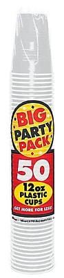 Amscan Big Party Pack 12oz, Silver Cups, 5/Pack, 50 Per Pack (436800.17) 1970930