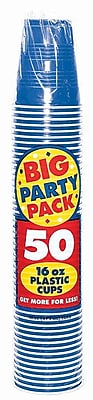 Amscan 16oz Royal Blue Big Party Pack Cup, 5/Pack, 50 Per Pack (436801.105) 1970957