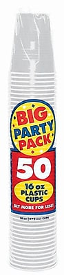 Amscan 16oz Silver Big Party Pack Cup, 5/Pack, 50 Per Pack (436801.17) 1970951