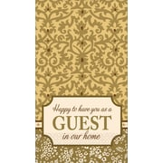 """Amscan Welcome Guests Guest Towels, 7.75"""" x 4.5"""", 4/Pack, 16 Per Pack (530029)"""